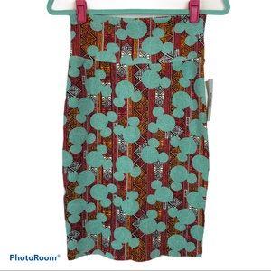 Lularoe Disney Mickey Cassie Skirt Size XS NWT